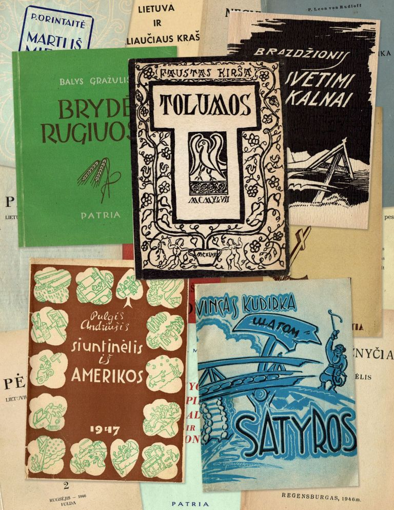 Collection of twenty Lithuanian DP books and periodicals published in post-war Germany, 1946-1951. authors.