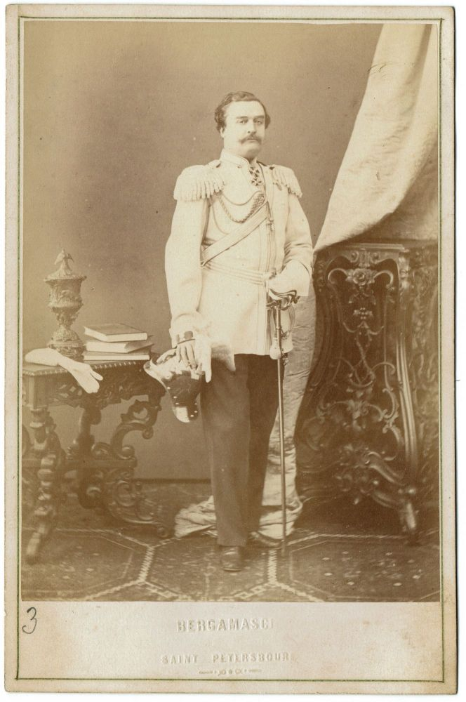 Russian High Ranking Officer. Saint-Petersburg [Cabinet Portrait]. Charles Bergamasco, photographer.