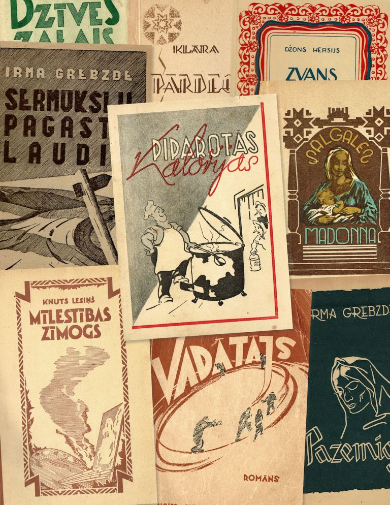 Collection of twenty-seven Latvian DP books and periodicals published in post-war Germany, 1946-1949. authors.