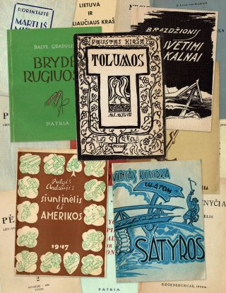 Collection of twenty Lithuanian DP books and periodicals published in post-war Germany,...