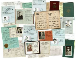 Passposts, documents and photographs documenting the post WWII emigration of a Yugoslav refugee...