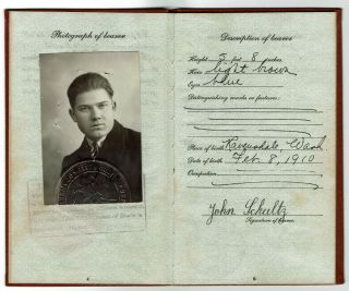 Passposts, documents and photographs documenting the post WWII emigration of a Yugoslav refugee family to Enumclaw, WA, in 1947