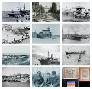Rare Photographic Record of a Sea Voyage from Odessa to The Middle East in 1903-1904 [68 negatives on glass plates]