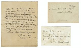Letter Signed by Swedish-Russian astronomer Johan Oskar Backlund to Croatian Astrophysicist...