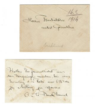 Letter Signed by Swedish-Russian astronomer Johan Oskar Backlund to Croatian Astrophysicist Branimir Alexander Truhelka, 1914