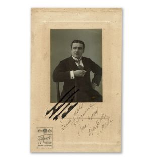 Collection of Twenty-Five Autographed Photographs. Russian Opera Singers and Theater Actors