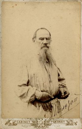 Signed] Photograph of the Russian Writer Leo Tolstoy (1828-1910). Leo Tolstoy