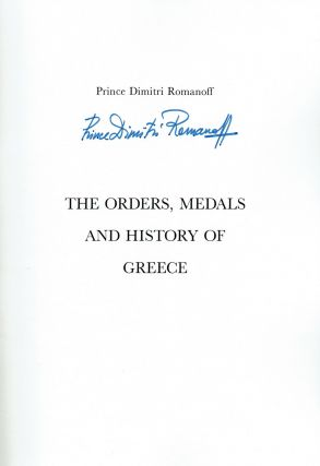 [SIGNED] The orders, medals and history of Greece