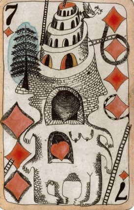 Playing Cards. Four Etchings.